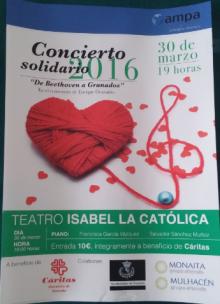 Concierto Solidario 2016 cartel